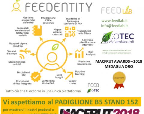 Macfrut Innovation Award 2018 - Feed ed Ecotec Medaglia D'Oro