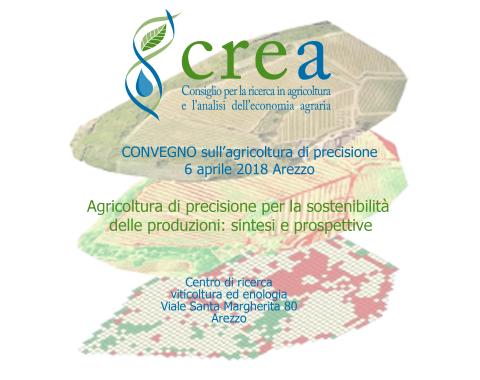 Convegno sull'agricoltura di Precisione organizzato dal CREA di Arezzo