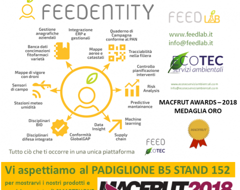 Macfrut Innovation Award 2018 - Feed ed Ecotec Medaglia D'Oro